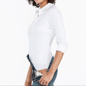 Express slim fit bodysuit essential white shirt